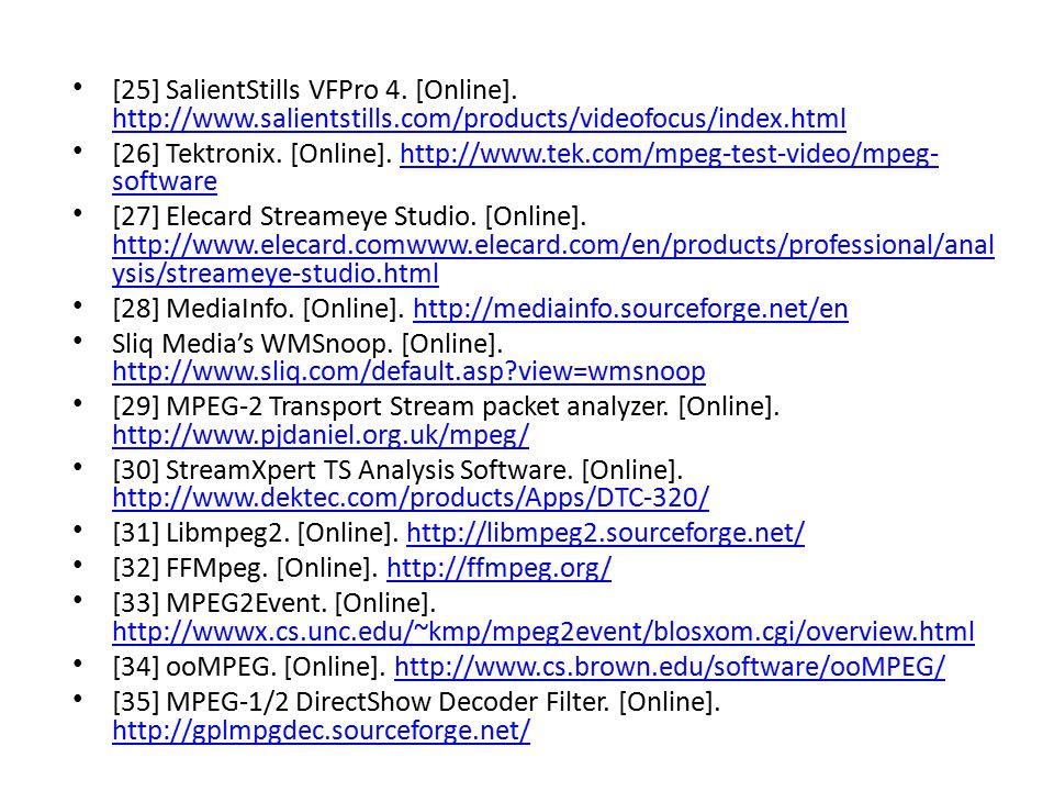 [25] SalientStills VFPro 4. [Online]. http://www. salientstills